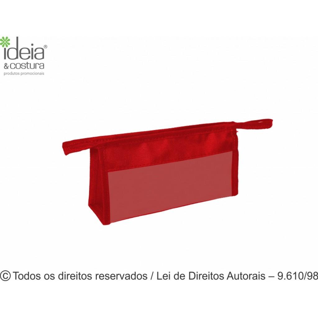 NECESSAIRE DE NYLON 600G COM VISOR DE PVC 23X13X6CM N51