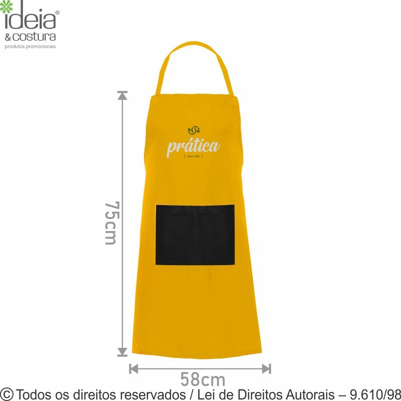 AVENTAL DE OXFORD C/ BOLSO 58X75CM AV2