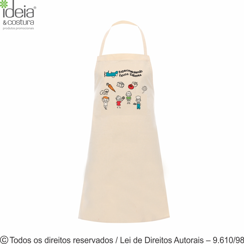 AVENTAL MINI CHEF DE ALGODAO 46X57CM AV9A