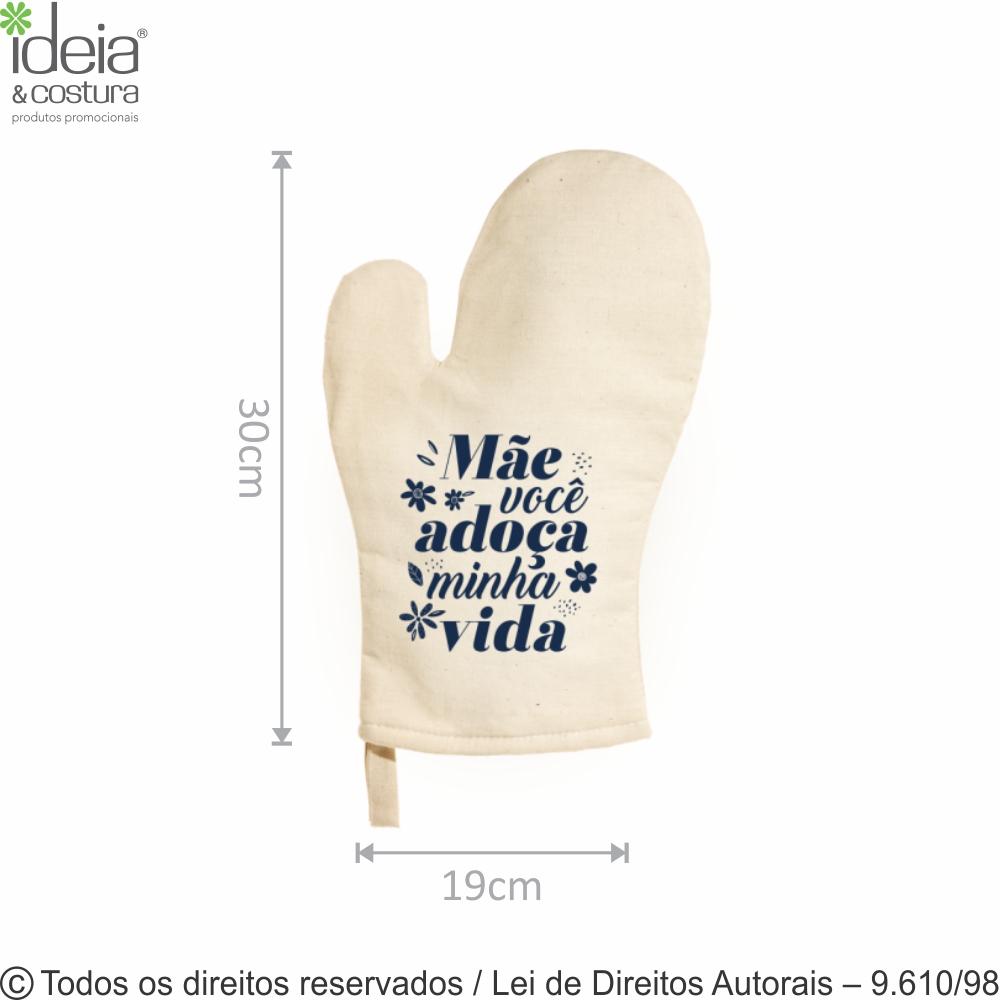 LUVA DE COZINHA ALGODAO 19X30CM 900