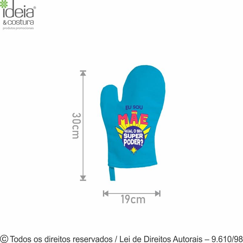 LUVA DE COZINHA COLOR 19X30CM 901LC