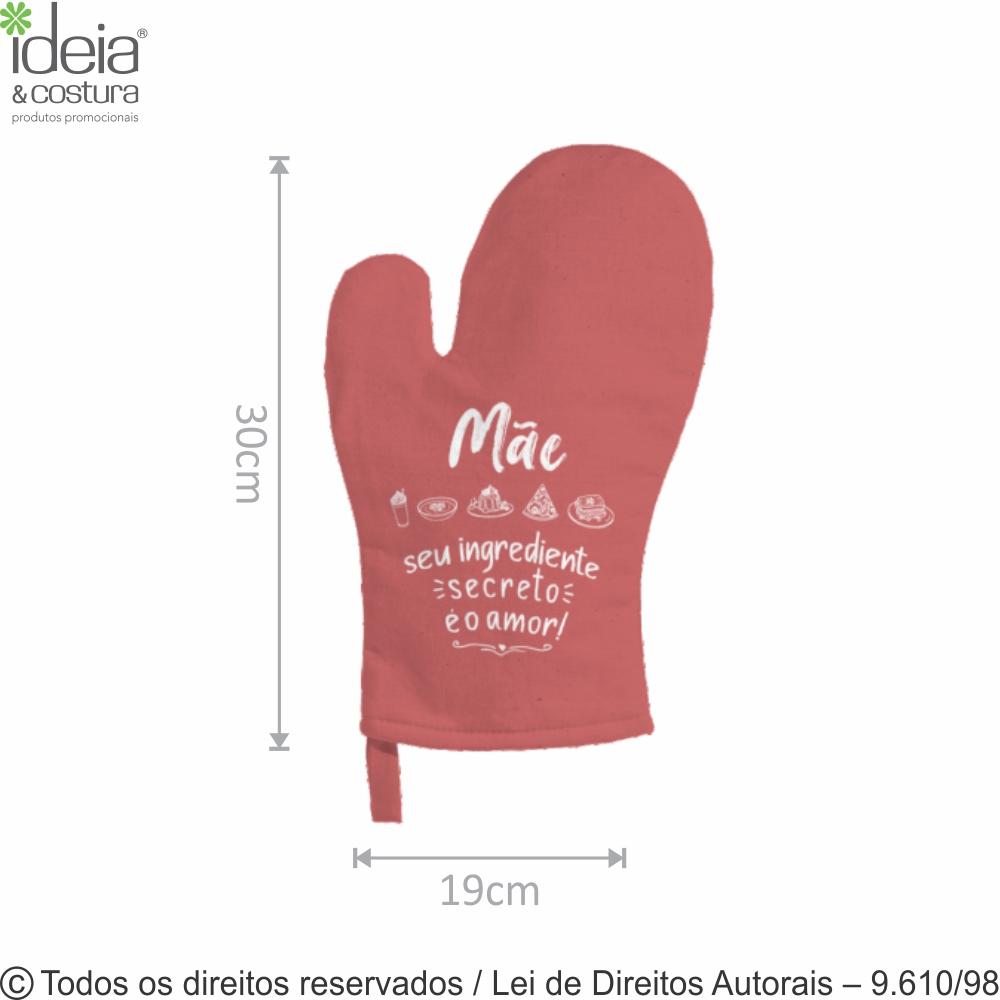 LUVA DE COZINHA COLOR 19X30CM 901