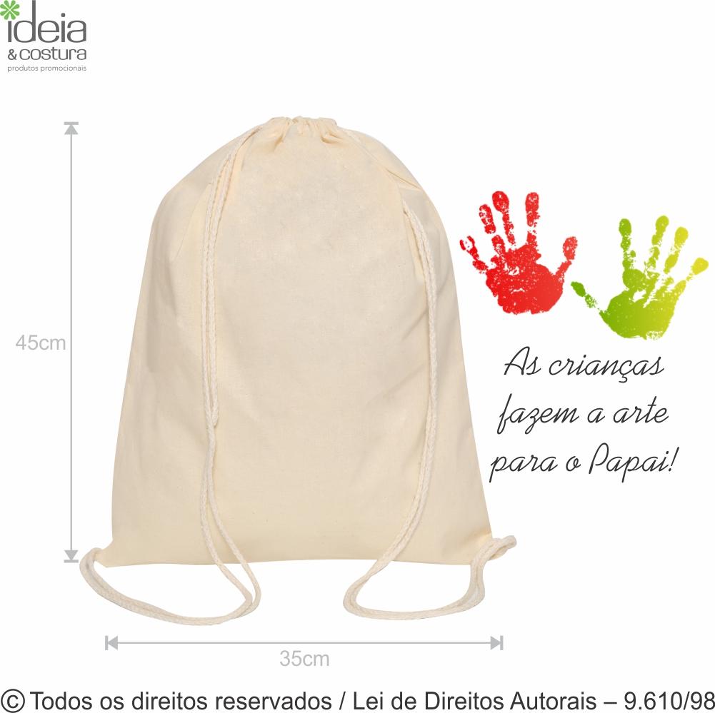 MOCHILA DE ALGODAO 160G 35X45CM M1