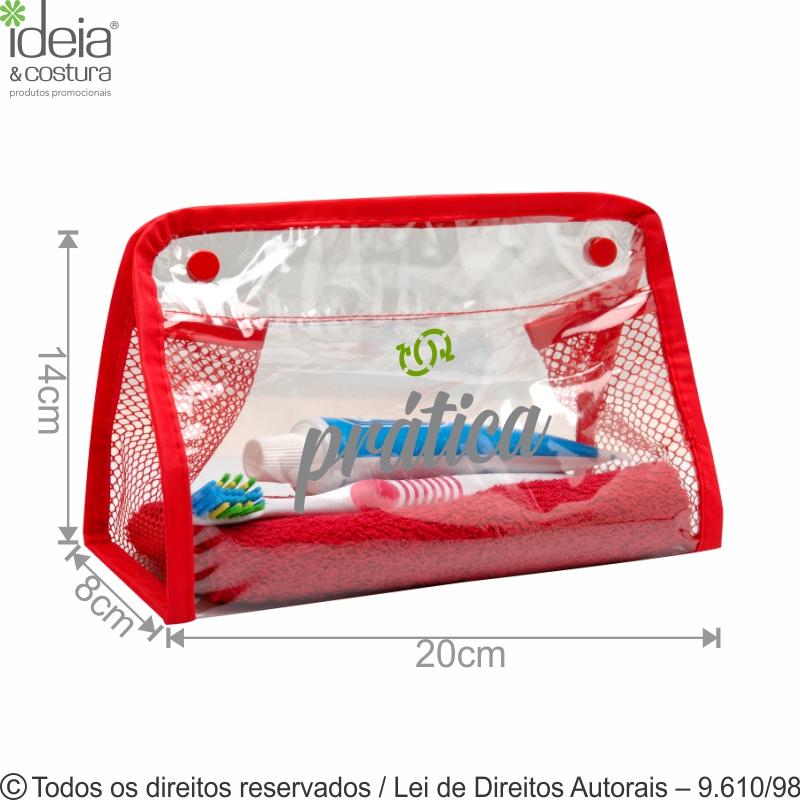 NECESSAIRE DE PVC 20X14X8CM N8