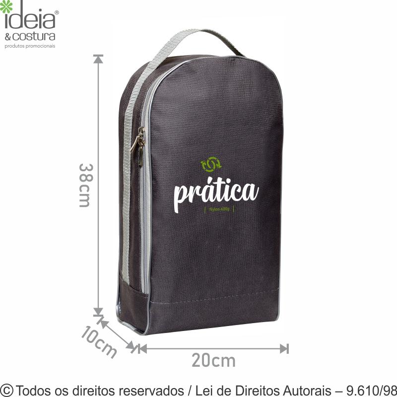 PORTA CALCADOS DE NYLON 20X38X10CM 92N