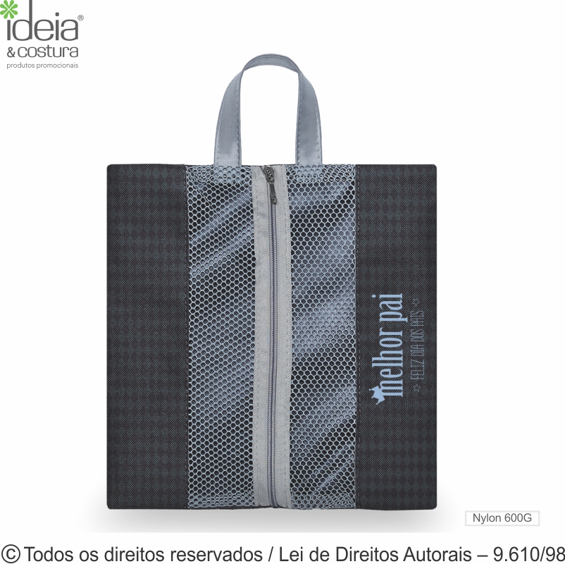 PORTA CHINELOS DE NYLON 600G 30X32CM N34PVC