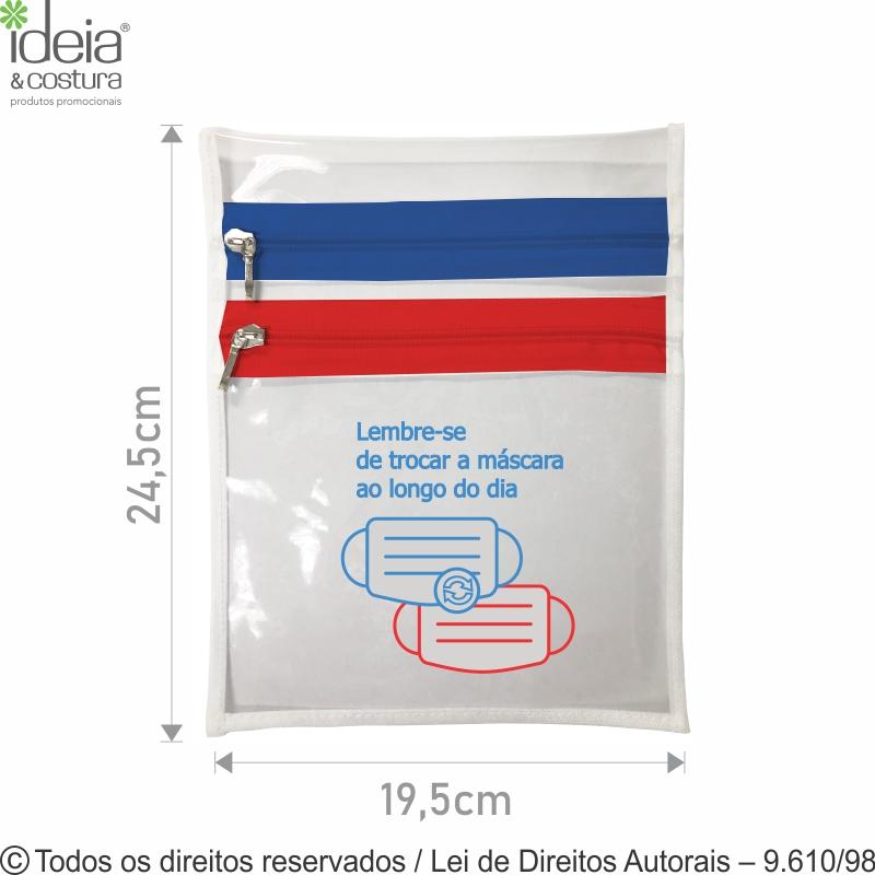 PORTA MASCARA DE PVC 10 19,5x24,5 CRISTAL N61