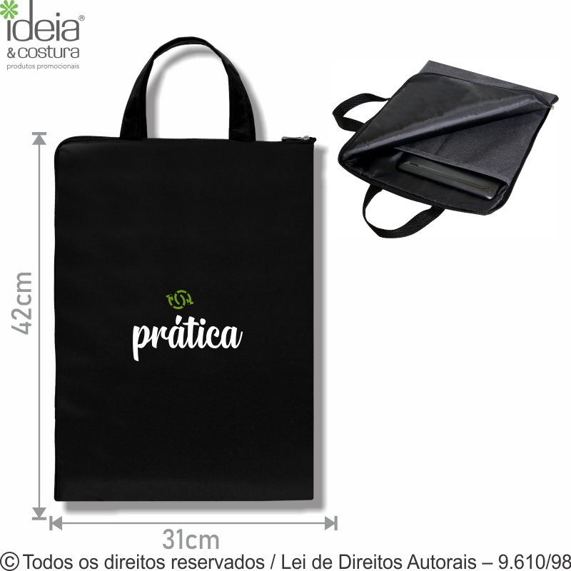 PORTA NOTEBOOK NYLON 70 PVC 29X39CM 212N70
