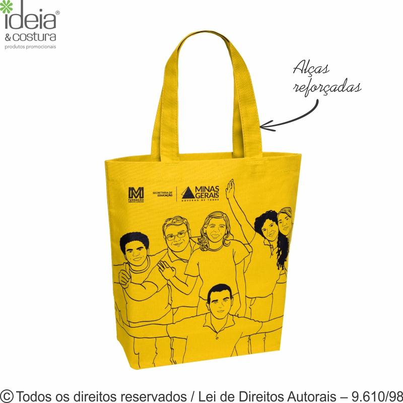SACOLA DE LONA COLORIDA 35X35X10CM 24LCFC - A