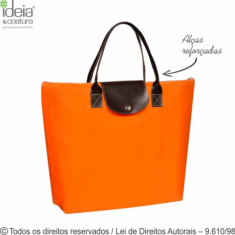 SACOLA DOBRAVEL DE NYLON 70 PVC  43X31X10CM 144N