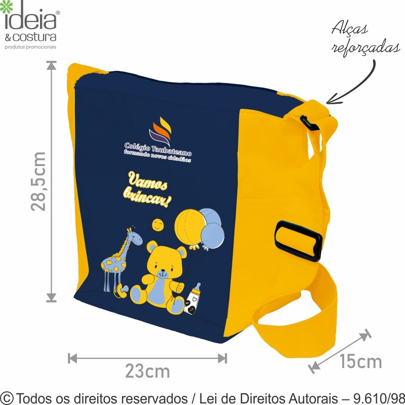 TOY'S BAG COM BOLSO 23X28,5X15CM 80LC